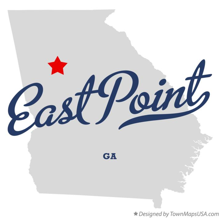 Map of East Point Georgia GA