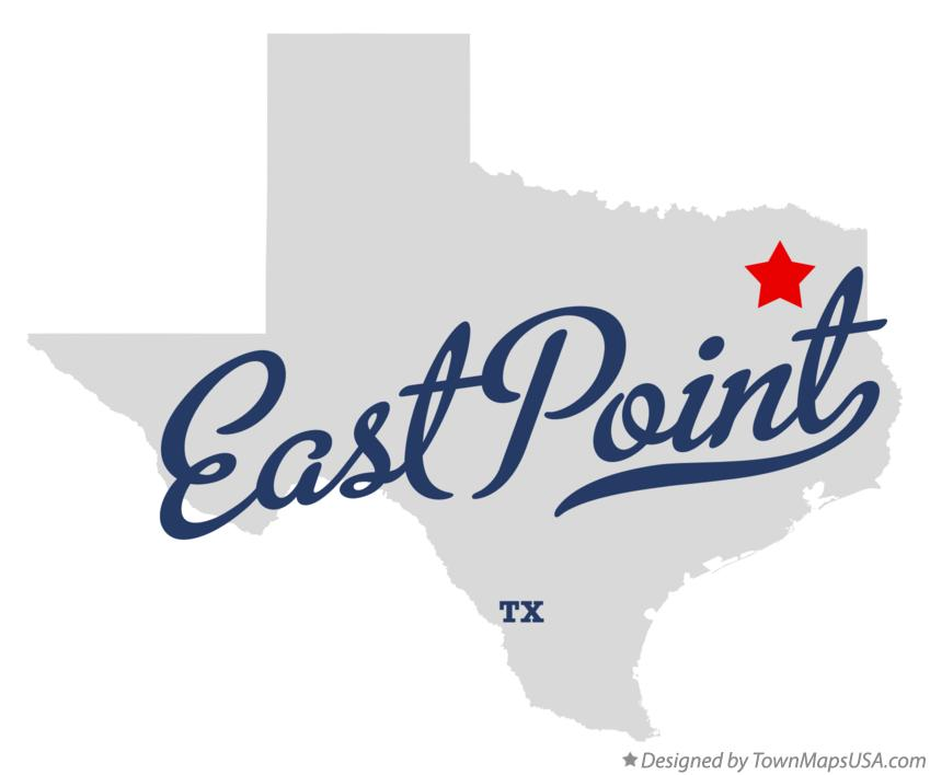 Map of East Point Texas TX