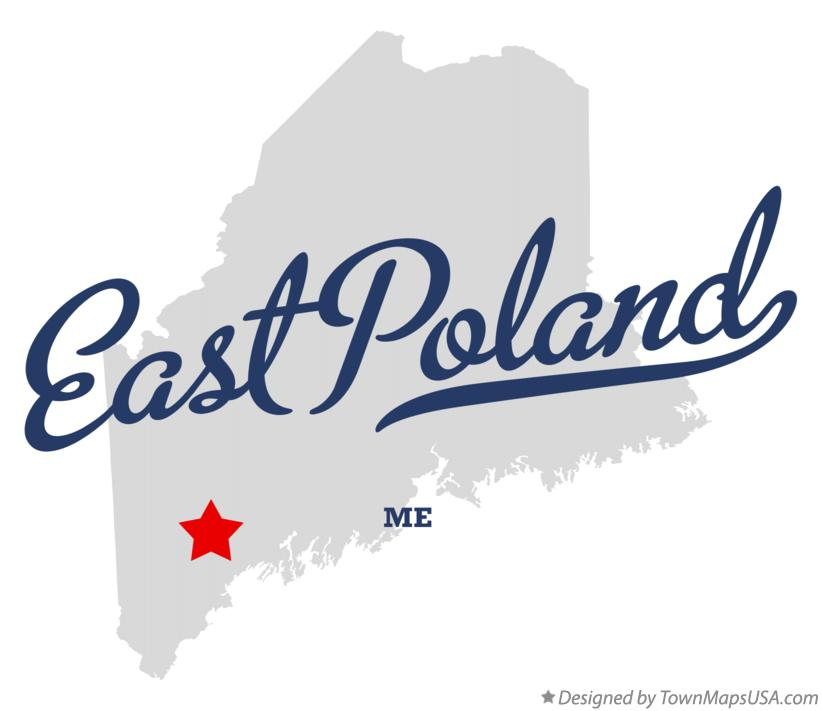 Map of East Poland Maine ME