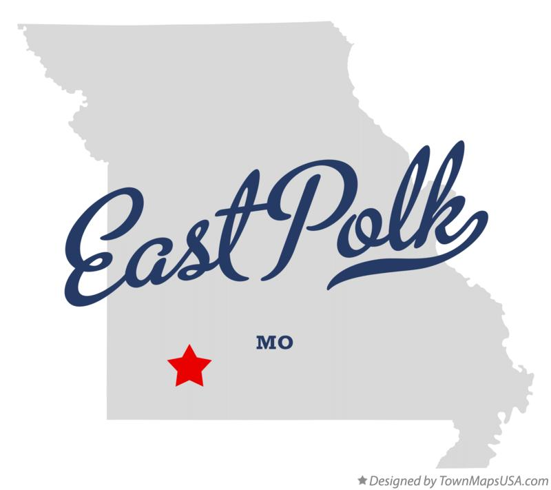 Map of East Polk Missouri MO