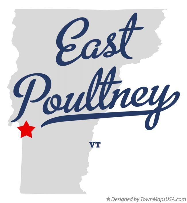 Map of East Poultney Vermont VT