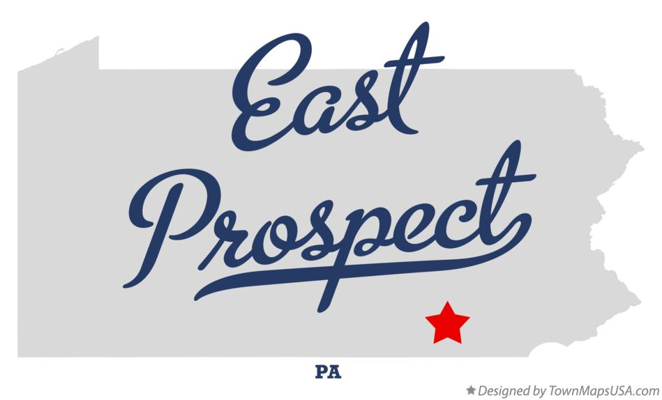 Map of East Prospect Pennsylvania PA