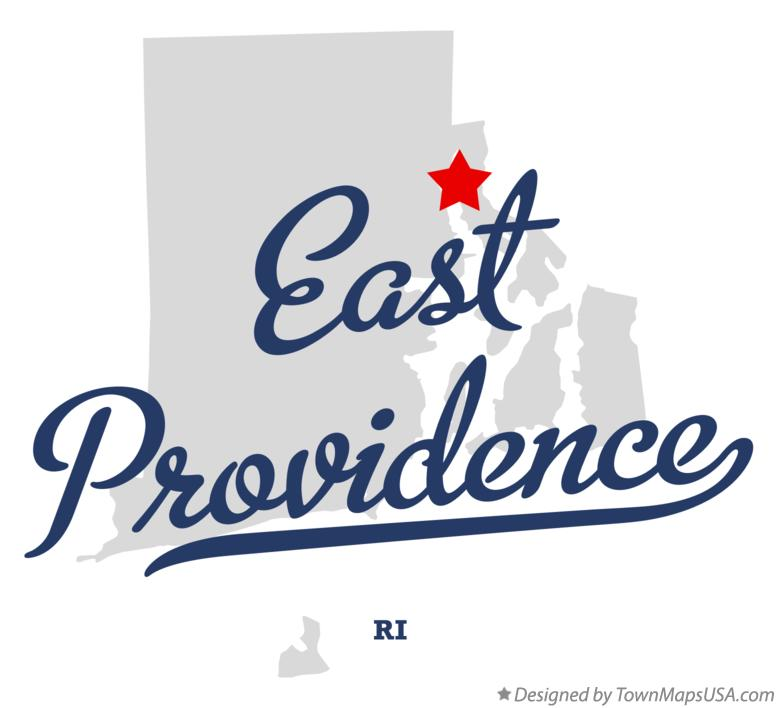 Map of East Providence Rhode Island RI