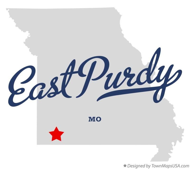 Map of East Purdy Missouri MO