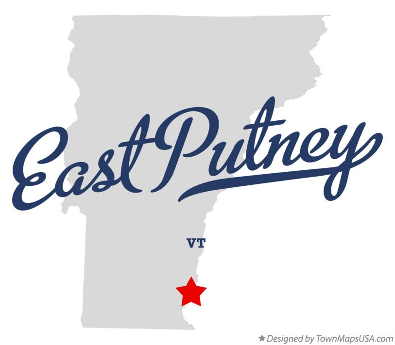 Map of East Putney Vermont VT