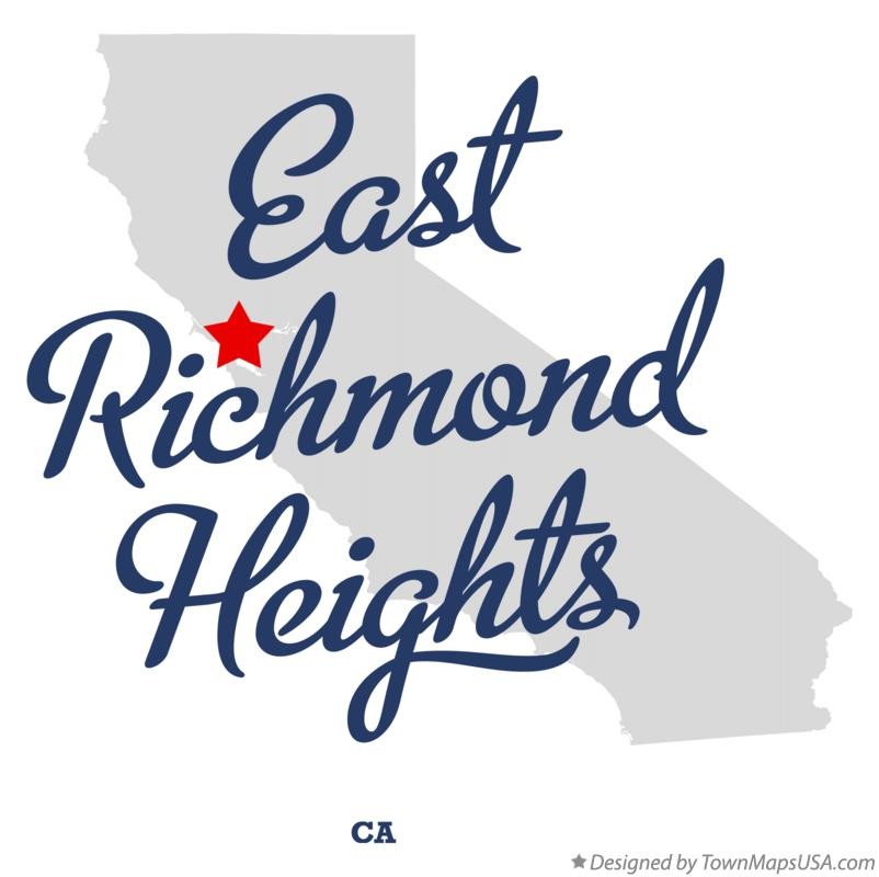 Map of East Richmond Heights California CA