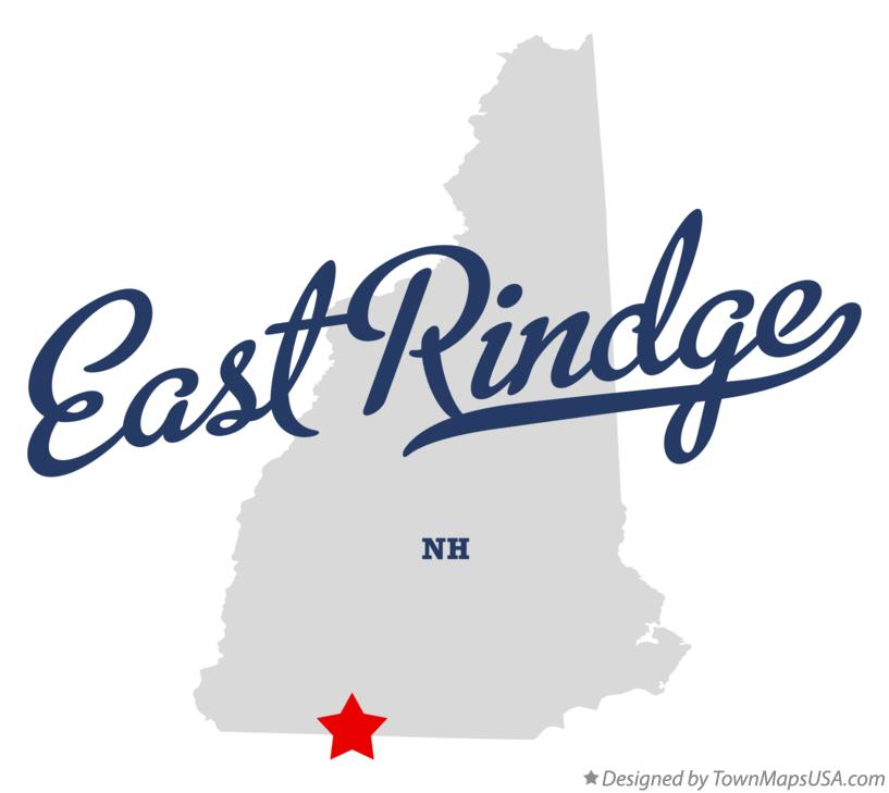 Map of East Rindge New Hampshire NH