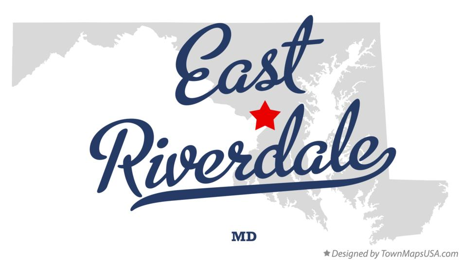 Map of East Riverdale Maryland MD