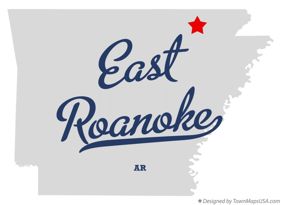 Map of East Roanoke Arkansas AR