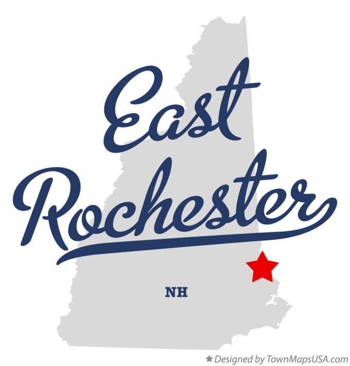Map of East Rochester New Hampshire NH