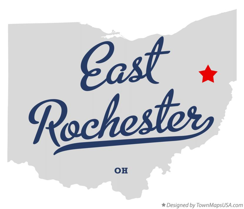 Map of East Rochester Ohio OH