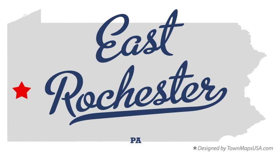 Map of East Rochester Pennsylvania PA