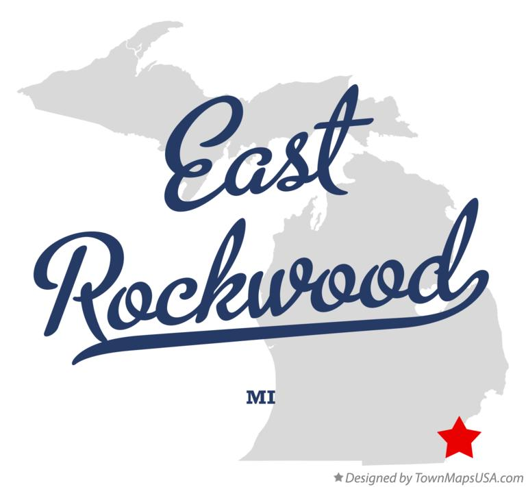 Map of East Rockwood Michigan MI