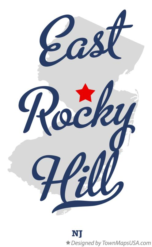Map of East Rocky Hill New Jersey NJ