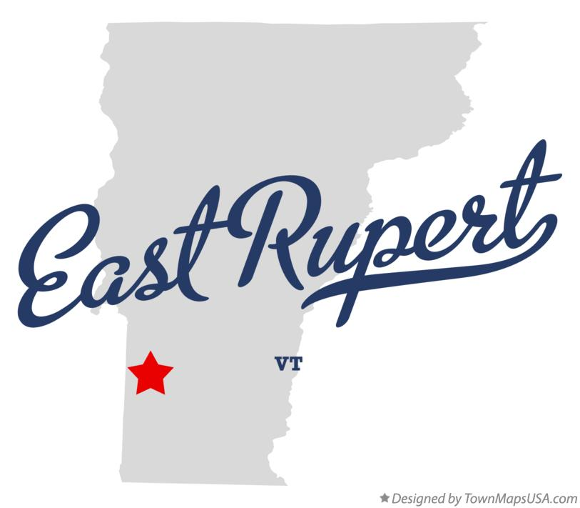 Map of East Rupert Vermont VT