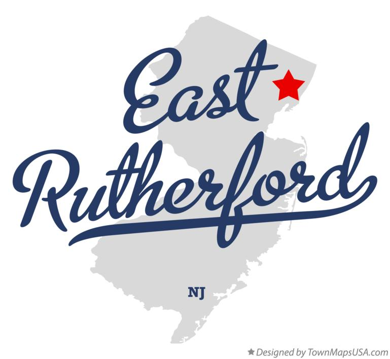 Map of East Rutherford New Jersey NJ