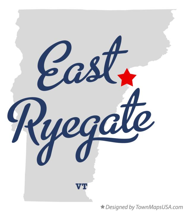 Map of East Ryegate Vermont VT