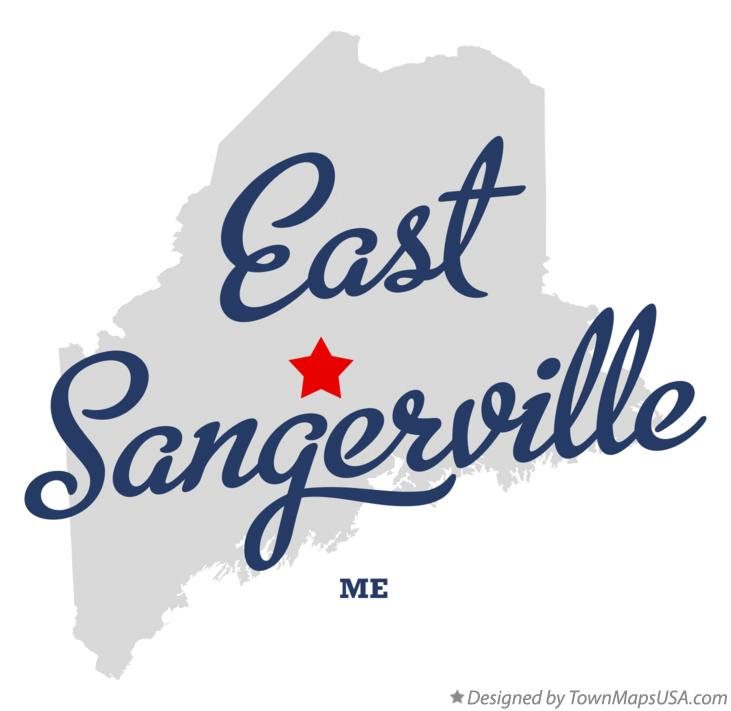 Map of East Sangerville Maine ME