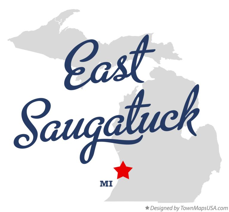 Map of East Saugatuck Michigan MI