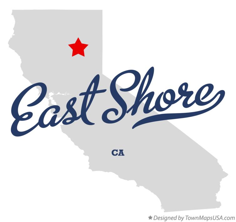 Map of East Shore California CA
