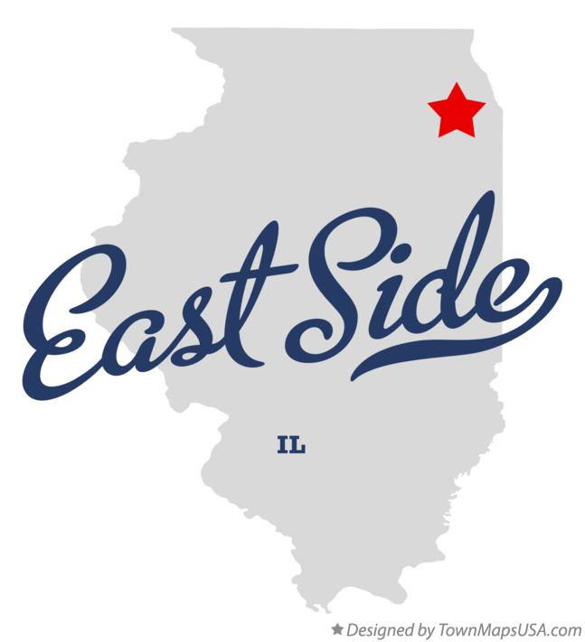 Map of East Side Illinois IL