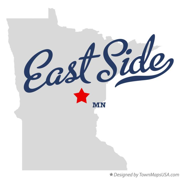 Map of East Side Minnesota MN
