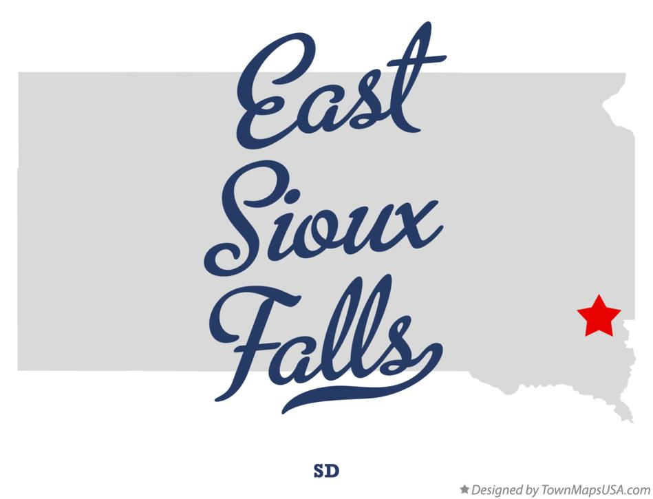 Map of East Sioux Falls South Dakota SD