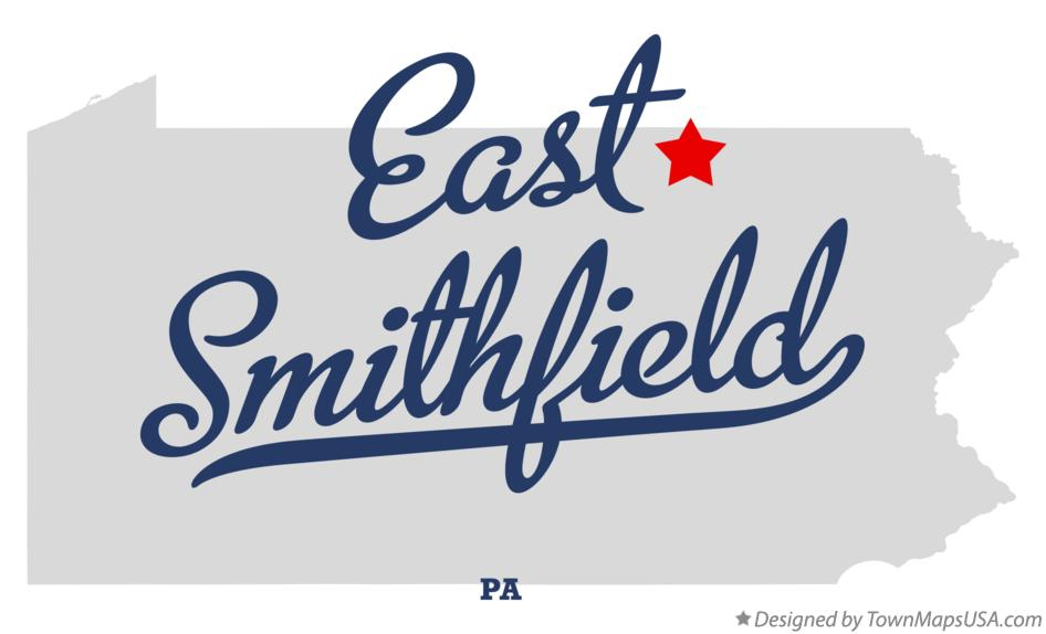 Map of East Smithfield Pennsylvania PA