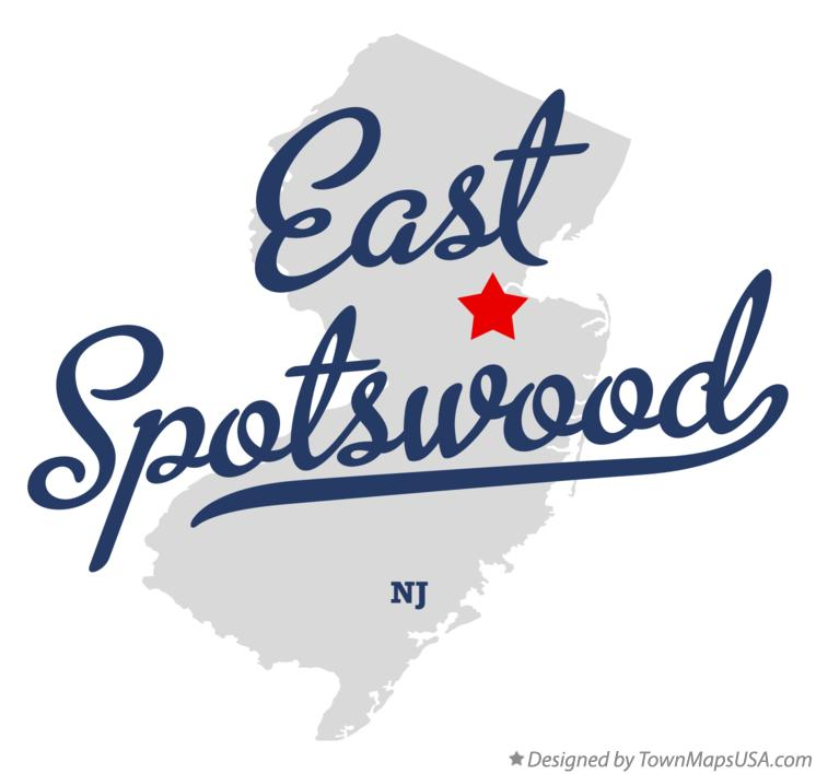 Map of East Spotswood New Jersey NJ