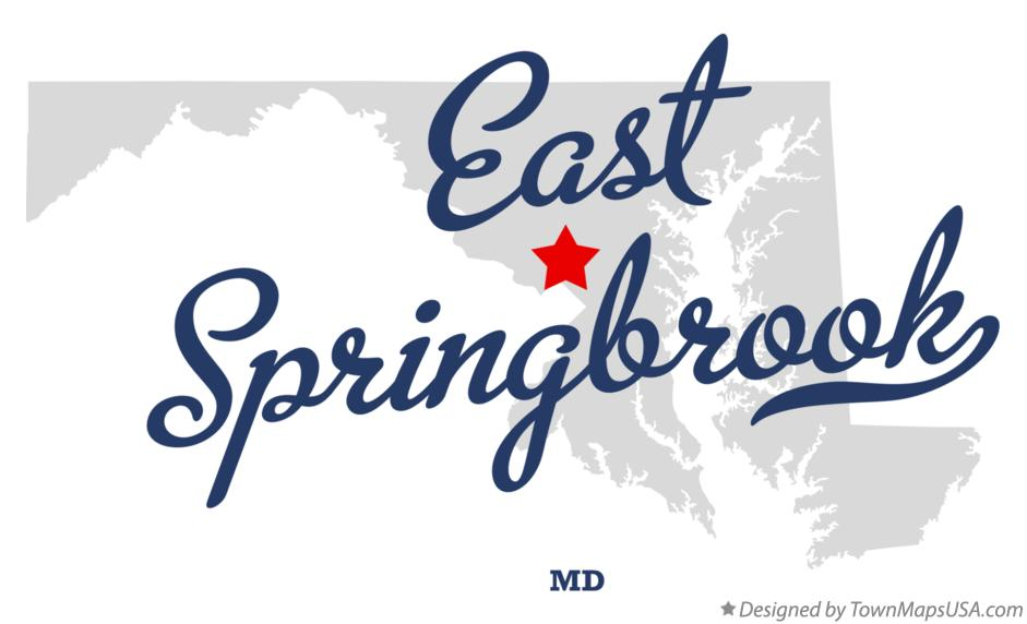 Map of East Springbrook Maryland MD