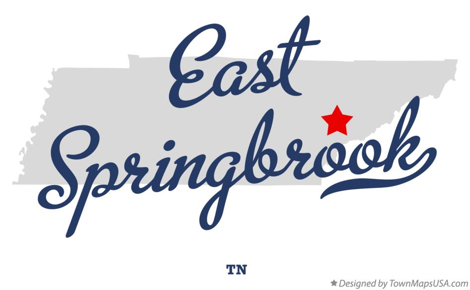 Map of East Springbrook Tennessee TN