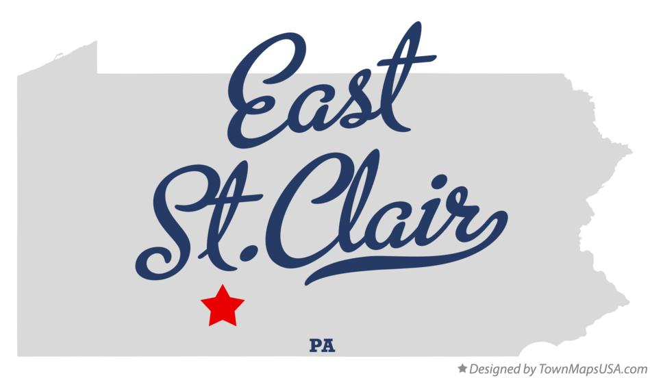 Map of East St.Clair Pennsylvania PA