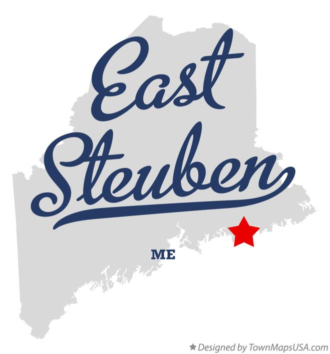 Map of East Steuben Maine ME