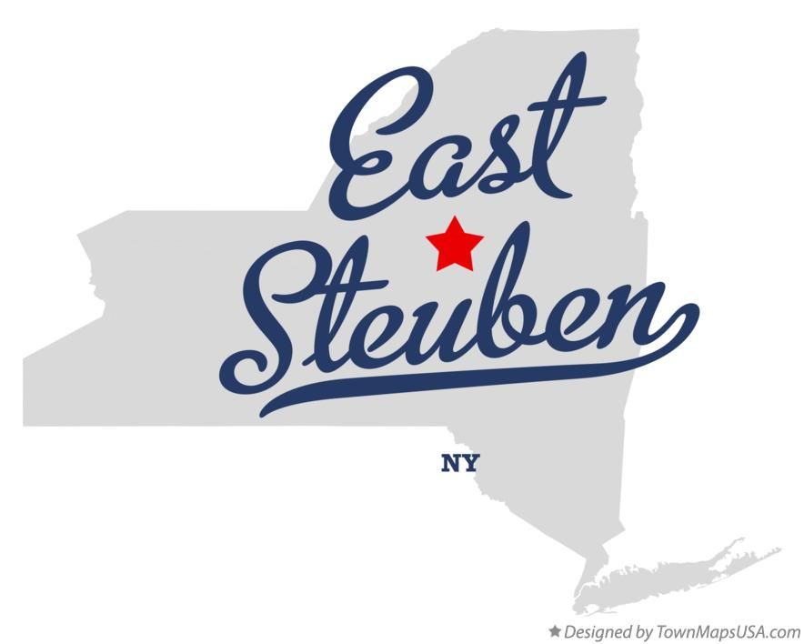 Map of East Steuben New York NY