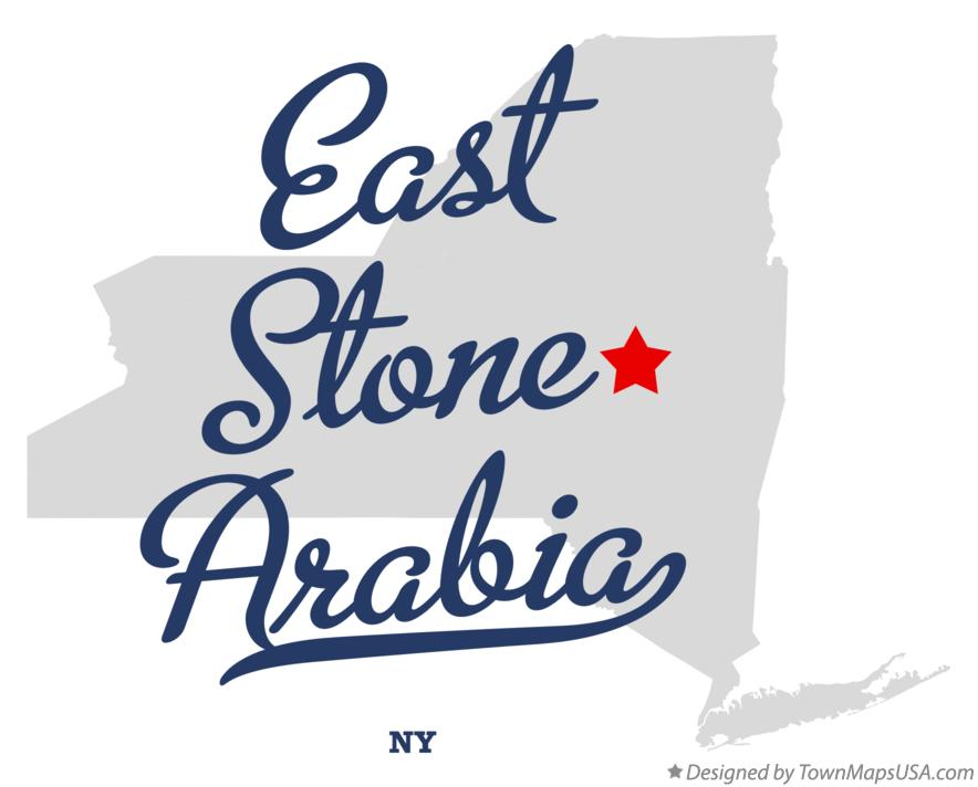 Map of East Stone Arabia New York NY