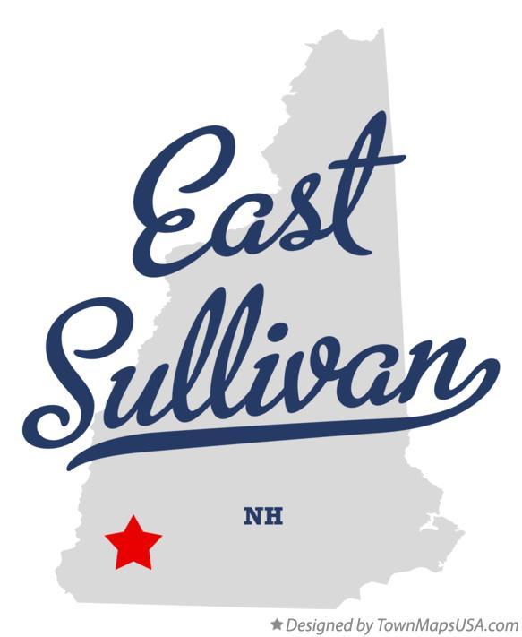 Map of East Sullivan New Hampshire NH