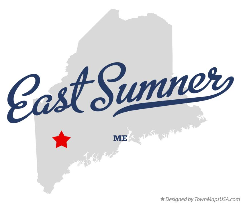 Map of East Sumner Maine ME