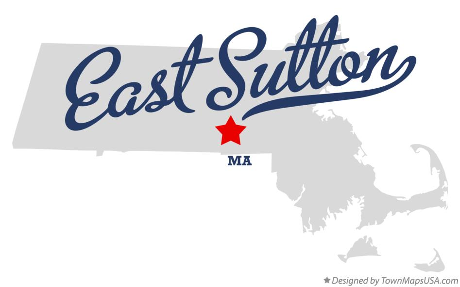 Map of East Sutton Massachusetts MA