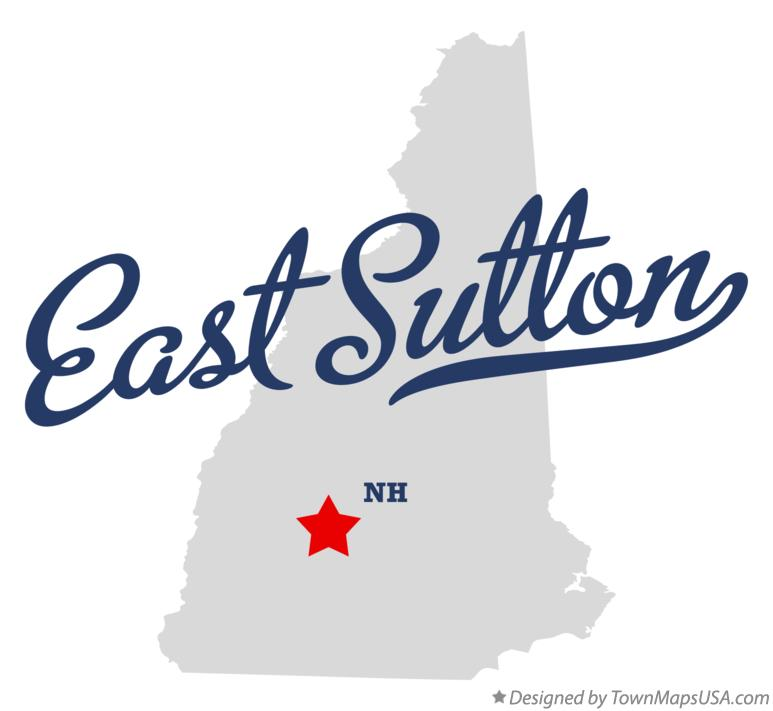 Map of East Sutton New Hampshire NH
