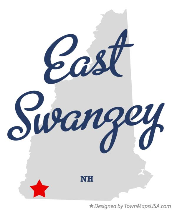 Map of East Swanzey New Hampshire NH