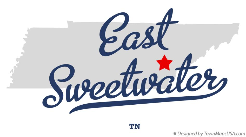 Map of East Sweetwater Tennessee TN