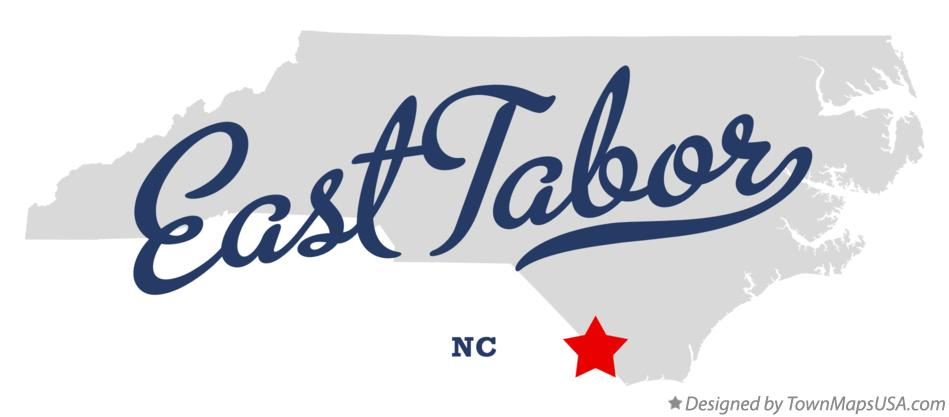 Map of East Tabor North Carolina NC