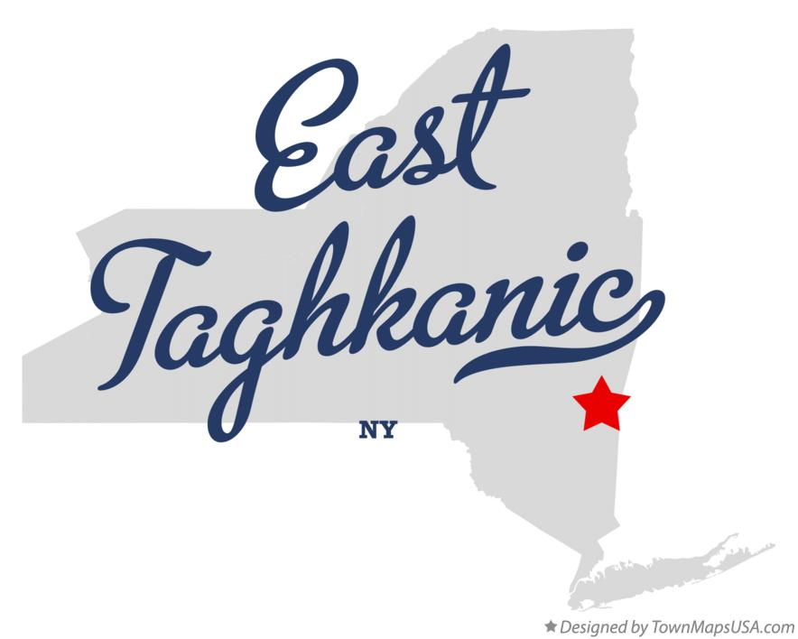 Map of East Taghkanic New York NY