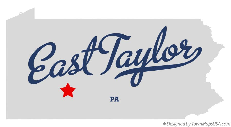 Map of East Taylor Pennsylvania PA