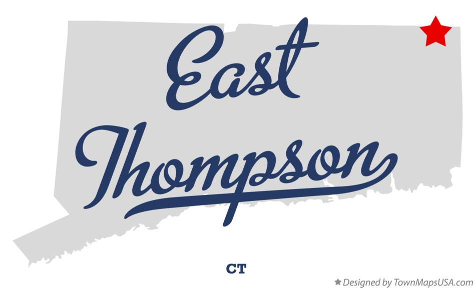 Map of East Thompson Connecticut CT