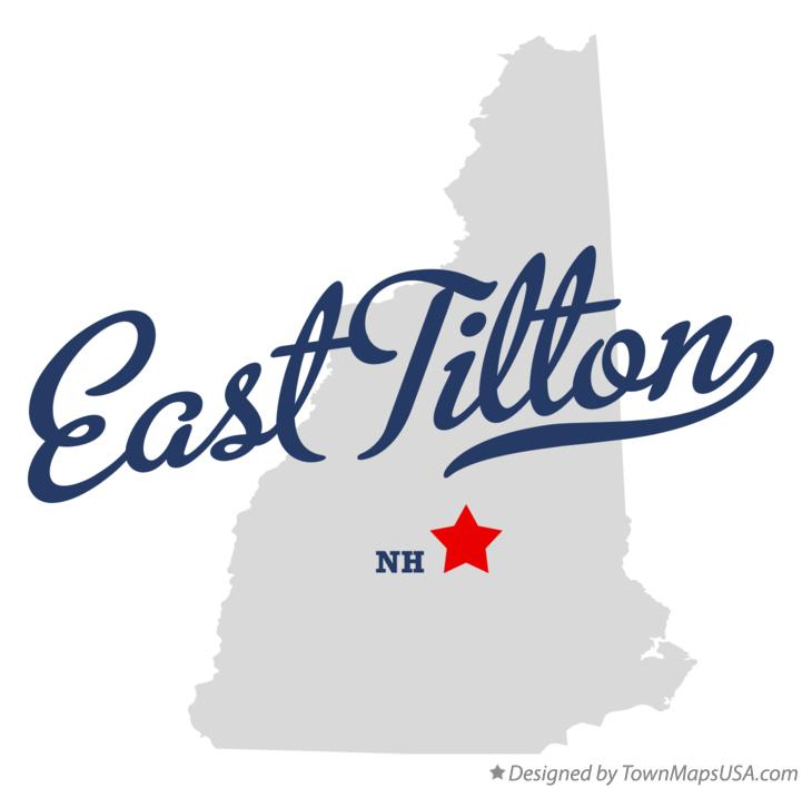 Map of East Tilton New Hampshire NH