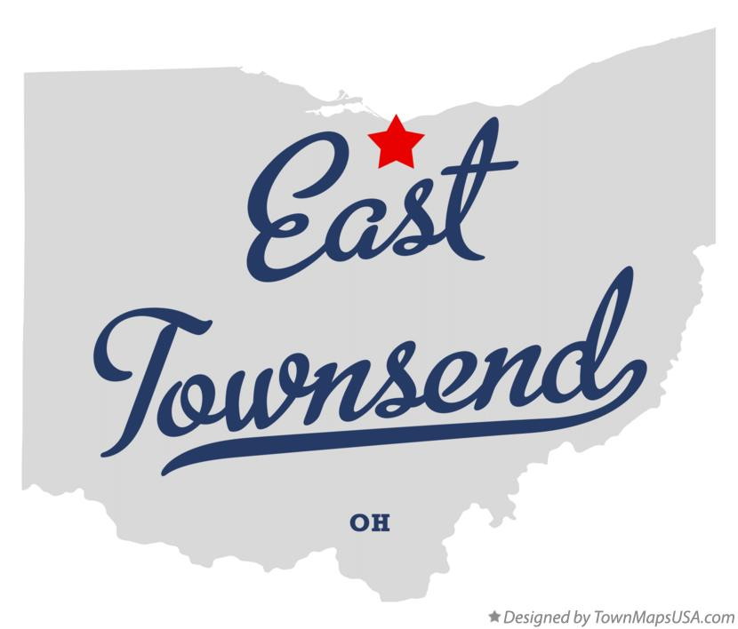 Map of East Townsend Ohio OH