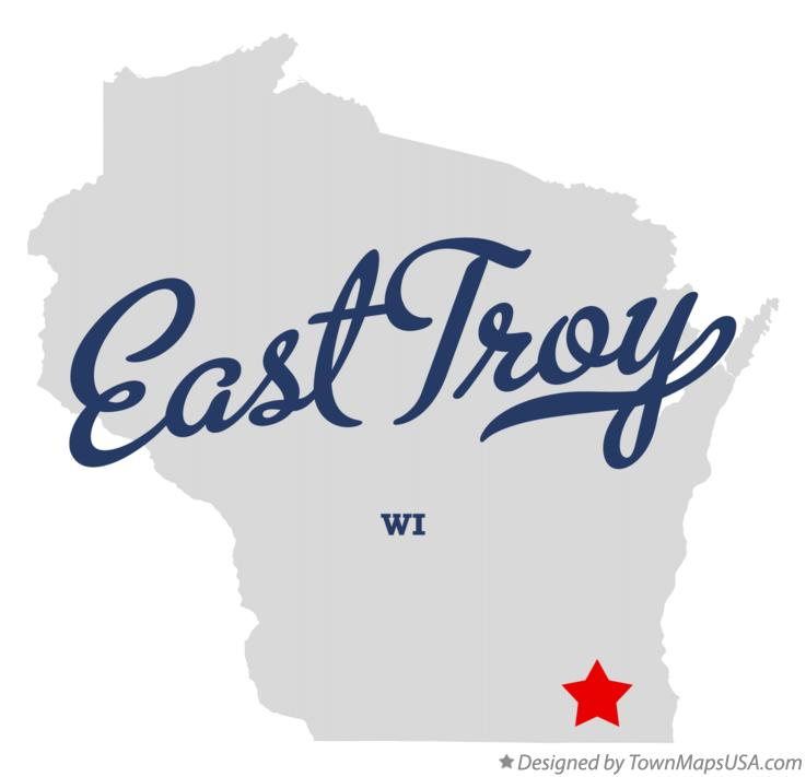 Map of East Troy Wisconsin WI