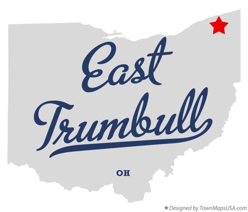 Map of East Trumbull Ohio OH
