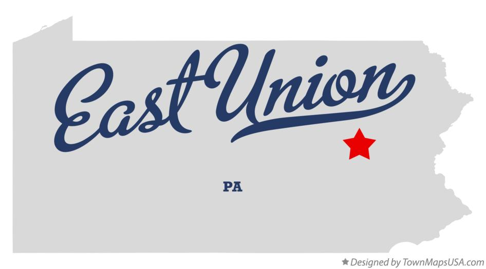 Map of East Union Pennsylvania PA